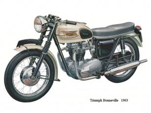 обоя tryumph, bonneville, мотоциклы, triumph