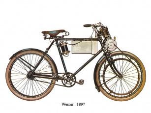 обоя werner, 1897, мотоциклы, рисованные