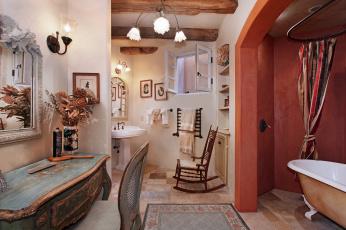 Картинка интерьер ванная+и+туалетная+комнаты ванная цветы стиль дизайн