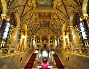 обоя parliment budapest, интерьер, холлы,  лестницы,  корридоры, декор, свод, лестница