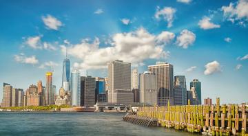 Картинка new+york+harbor города нью-йорк+ сша небоскребы гавань бухта