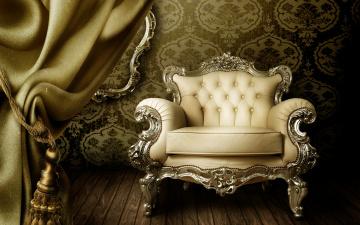 обоя интерьер, мебель, шторы, кресло, обои, interior, curtain, luxury, vintage