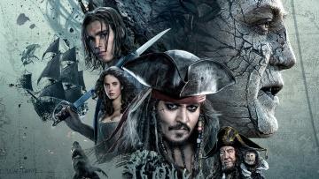 обоя кино фильмы, pirates of the caribbean,  dead men tell no tales, персонажи