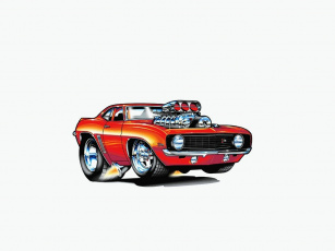 Картинка camaro рисованные авто мото