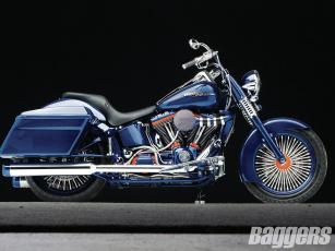 Картинка 2006 harley davidson heritage softail мотоциклы customs bagger