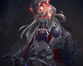 Картинка аниме kantai+collection оружие девушка kantai collection astral reverie kouji арт destroyer water oni магия
