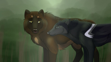 Картинка рисованное животные +собаки фон собаки взгляд