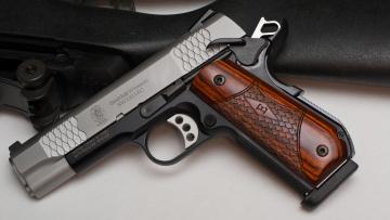 обоя оружие, пистолеты, пистолет, e-series, sw1911sc, wesson, smith, amp