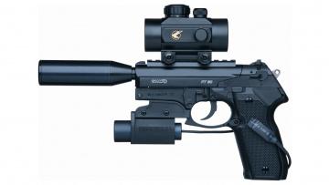 обоя оружие, пистолеты с глушителемглушители, pistol, gun, customization, optical, lenses, gamo, beautiful, design, mini, flashlight, weapon, 4-5mm, damper, noise, tactical