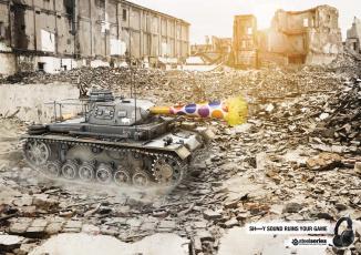Картинка бренды steelseries танк руины наушники