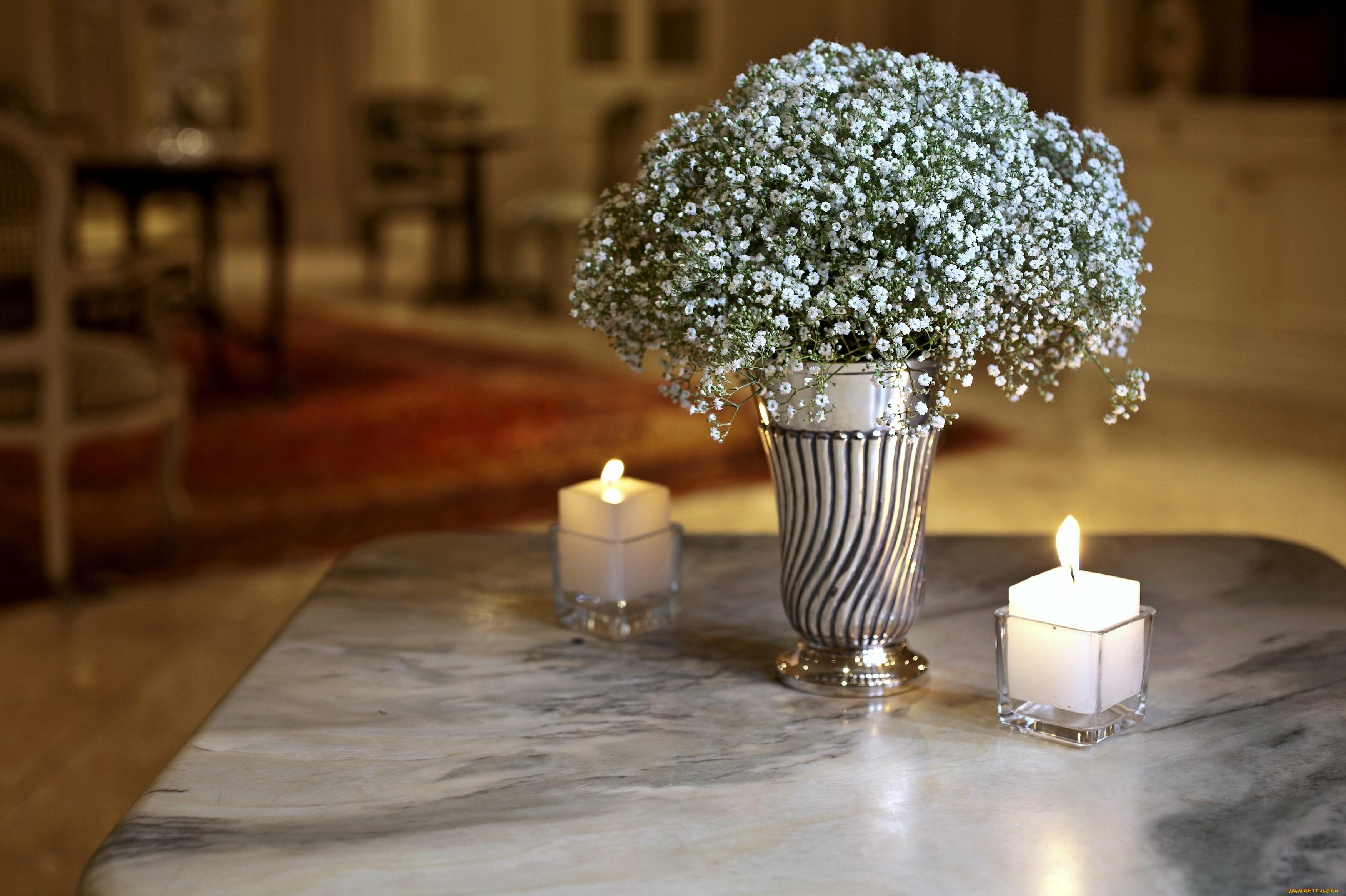 цветы свечи  № 1504282 без смс