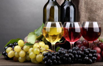 Картинка еда напитки вино виноград бокалы