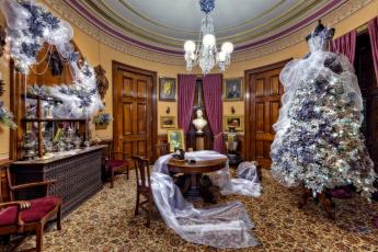 обоя праздничные, Ёлки, покрывало, шелковое, оригинальное, люстра, дерево, комната