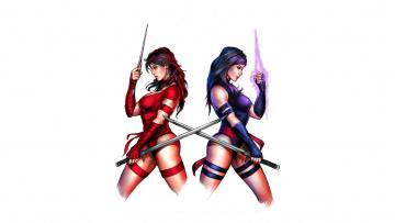 обоя рисованное, комиксы, девушки, фон, униформа, оружие