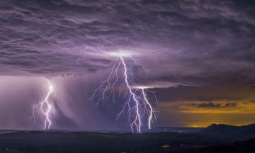 Картинка природа молния +гроза шторм