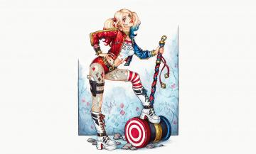 обоя рисованное, комиксы, девушка, фон, униформа, киянка