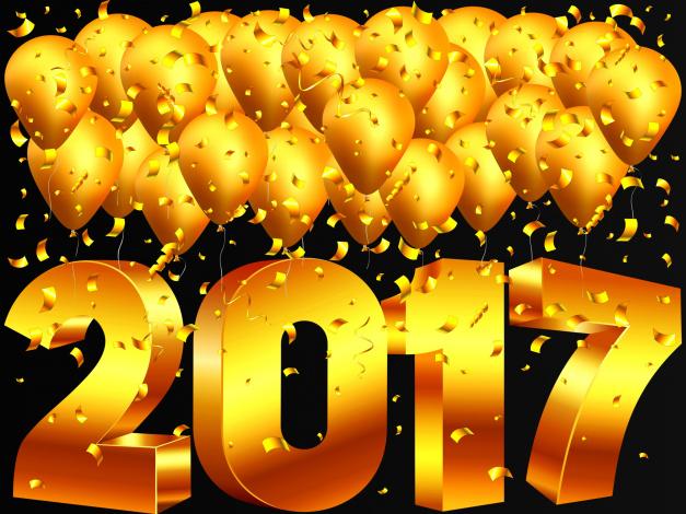 Обои картинки фото праздничные, векторная графика , новый год, фон, шары