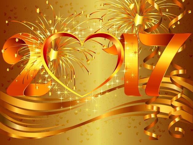 Обои картинки фото праздничные, векторная графика , новый год, салют, звезды, ленты