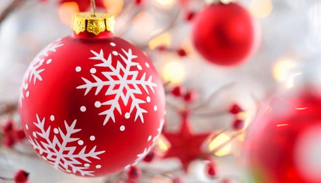 Обои картинки фото праздничные, шары, красные, макро, шарики