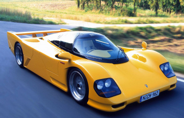 обоя porsche dauer 962 le mans based on porsche 962 1994, автомобили, porsche, le, mans, dauer, жёлтый, 1994, 962, based