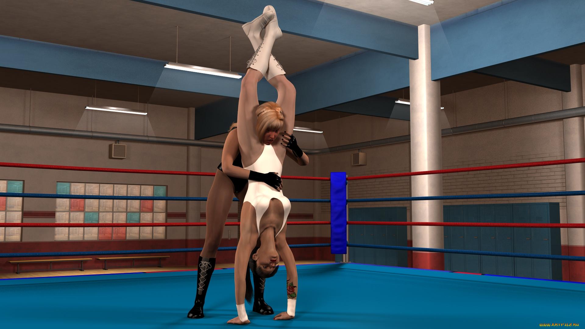 Видео девчонки дерутся на ринге в микро бикини 195