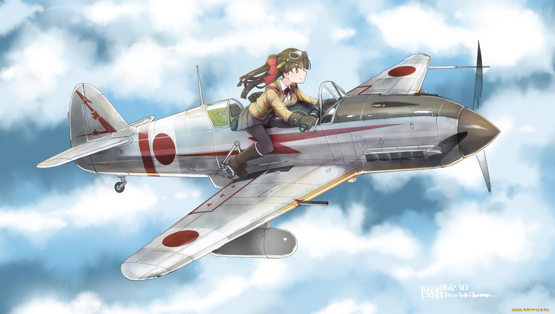 Девушки и самолеты аниме