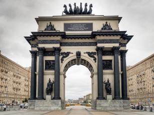 обоя триумфальная арка, города, москва , россия, москва, триумфальная, арка