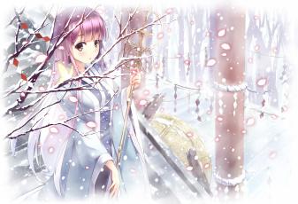 обоя аниме, touhou, saigyouji, yuyuko