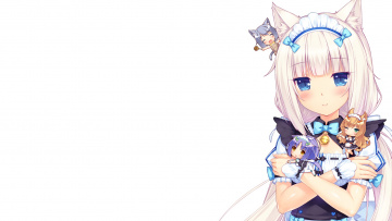 обоя аниме, nekopara, фон, взгляд, девушка