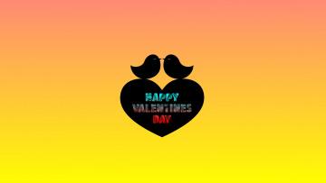 обоя праздничные, день святого валентина,  сердечки,  любовь, птицы, фон, сердечко