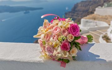 обоя цветы, букеты,  композиции, орхидеи, розы