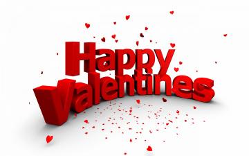 обоя праздничные, день святого валентина,  сердечки,  любовь, надпись