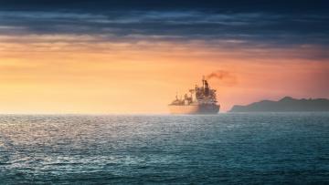 обоя корабли, грузовые суда, море, корабль, закат
