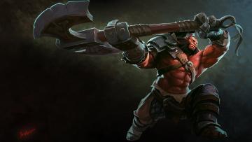 Картинка dota видео игры великан топор сила мощь