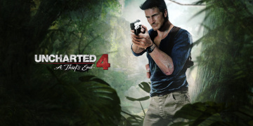 Картинка видео+игры uncharted+4 +a+thief`s+end ps4 uncharted 4 a thief's end naughty dog game nathan drake fan art мужчина playstation пистолет
