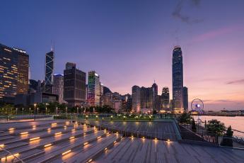 Картинка tamar+park +hong+kong города гонконг+ китай рассвет
