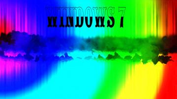 обоя компьютеры, windows 7 , vienna, фон, логотип