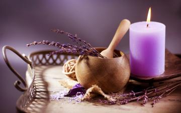 Картинка разное свечи ветки свеча поднос