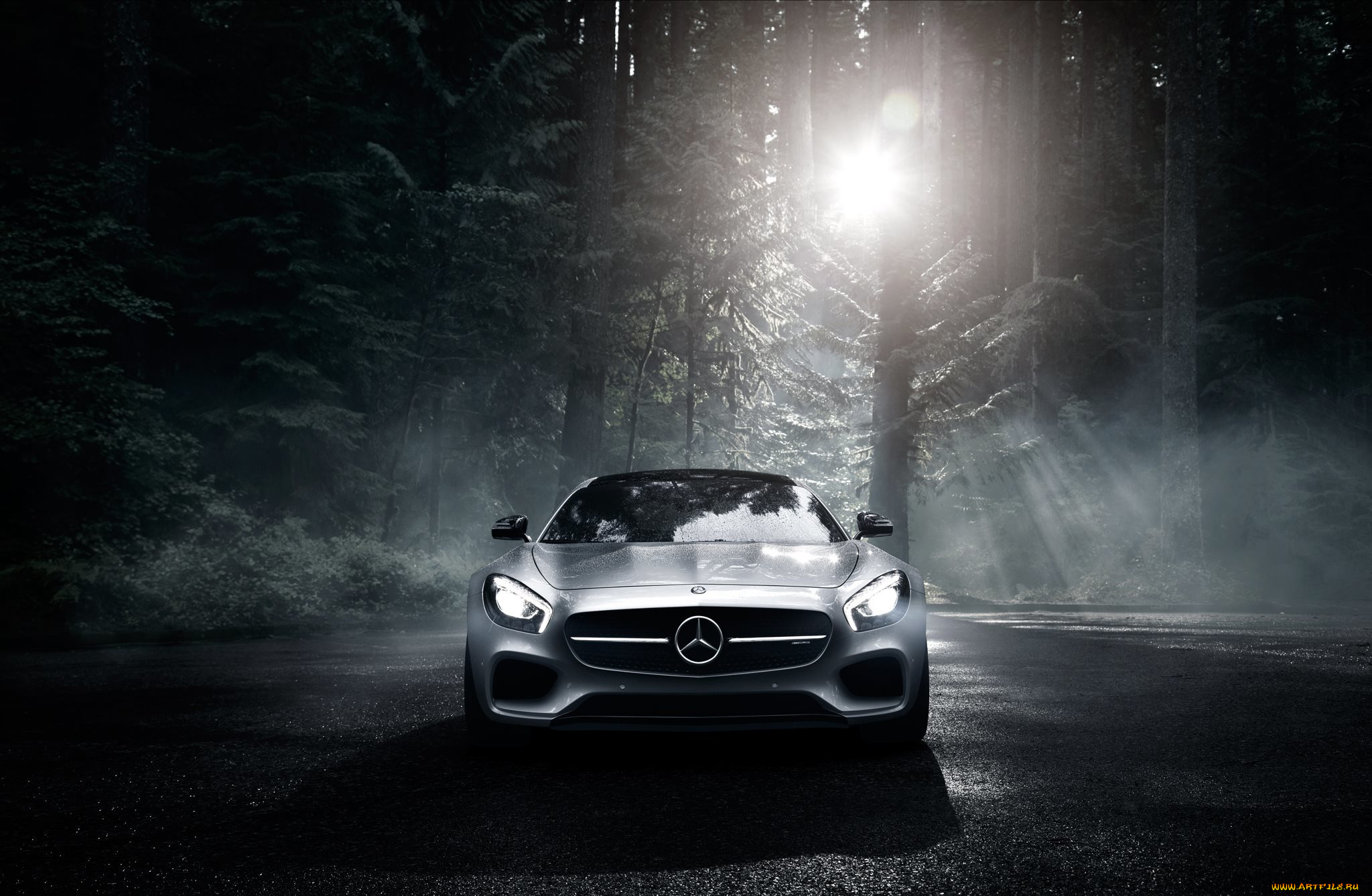мерседес серебристый Mercedes silver  № 288022 загрузить