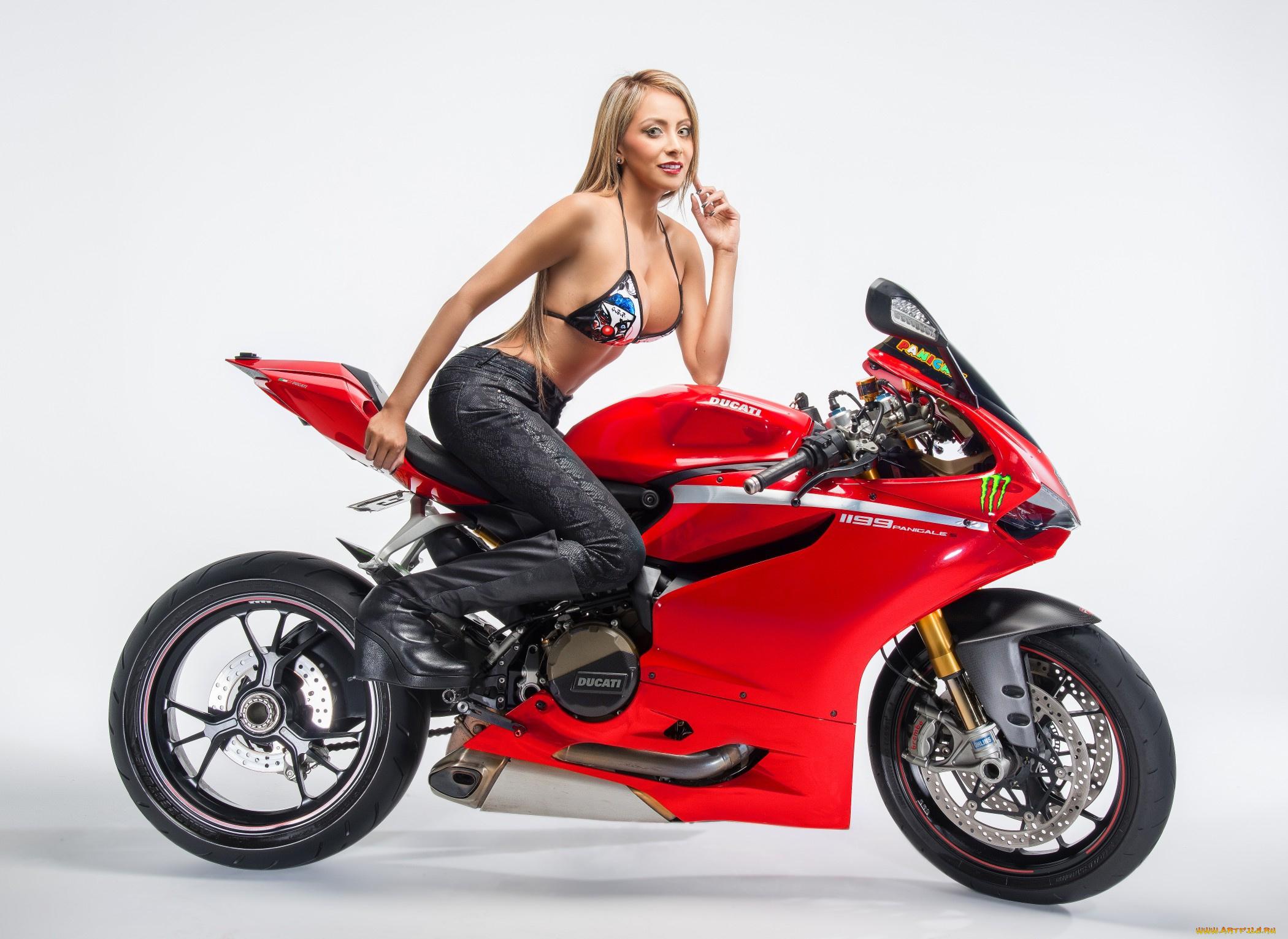 Открытки, открытки с девушками и мотоциклами