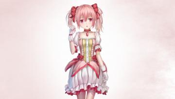 Картинка mahou+shoujo+madoka+magika аниме фон взгляд девушка