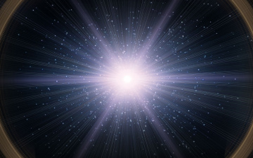 обоя космос, квазары, вспышка, галактика, звёзды, квазар, свет