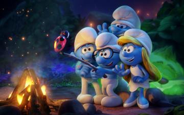 обоя мультфильмы, smurfs,  the lost village