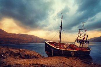Картинка корабли баркасы буксиры баркас небо