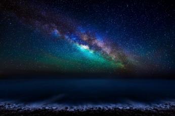 Картинка космос галактики туманности млечный путь звезды ночь небо атлантический океан канарские острова