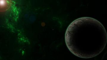 Картинка космос арт звезды планета вселенная галактика
