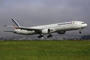 обоя boeing 777-300er, авиация, пассажирские самолёты, авиалайнер