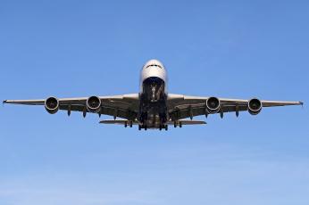 обоя a380, авиация, пассажирские самолёты, авиалайнер