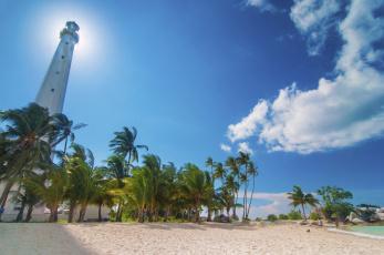 Картинка indonesia природа маяки пляж пальмы индонезия
