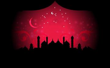 обоя векторная графика, город , city, мечеть